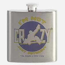 Crazy Hockey Goalie Flask