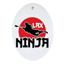 LAX Ninja Ornament (Oval)