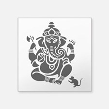 "Ganesha Square Sticker 3"" X 3"""