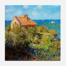 Claude Monet Fisherman's Cottage Tile Coaster