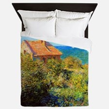 Claude Monet Fisherman's Cottage Queen Duvet