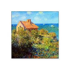"Claude Monet Fisherman's Cottage Square Sticker 3"""