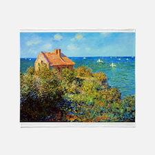 Claude Monet Fisherman's Cottage Throw Blanket