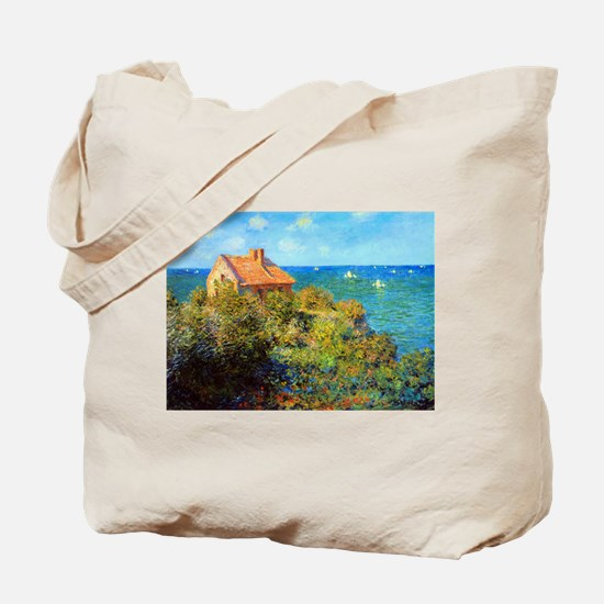Claude Monet Fisherman's Cottage Tote Bag