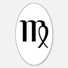 Virgo Symbol Oval Bumper Stickers