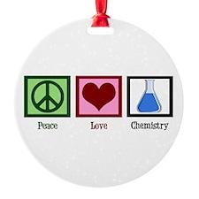 Peace Love Chemistry Ornament