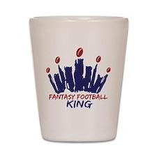 Fantasy Football King Shot Glass