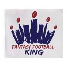 Fantasy Football King Throw Blanket