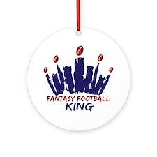 Fantasy Football King Ornament (Round)