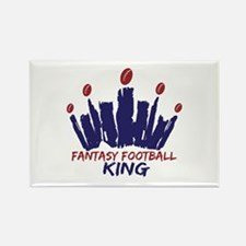 Fantasy Football King Rectangle Magnet
