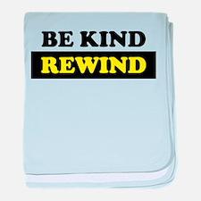 Be Kind Rewind baby blanket