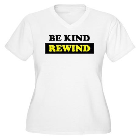 Be Kind Rewind Women's Plus Size V-Neck T-Shirt