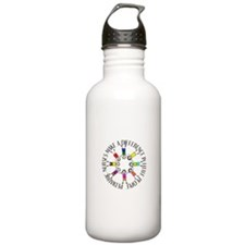 pediatric nurses circle WITH KIDS.PNG Sports Water Bottle