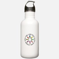 pediatric nurses circle WITH KIDS.PNG Sports Water Bottle