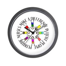pediatric nurses circle WITH KIDS.PNG Wall Clock