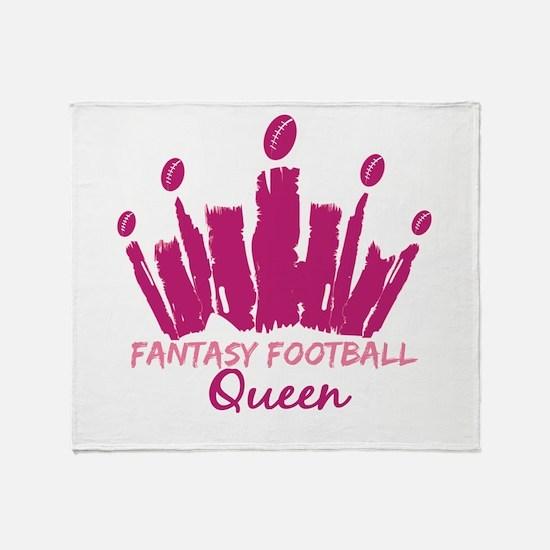 Fantasy Football Queen Throw Blanket