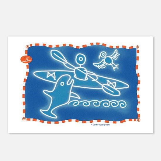 Cute Kayak Postcards (Package of 8)