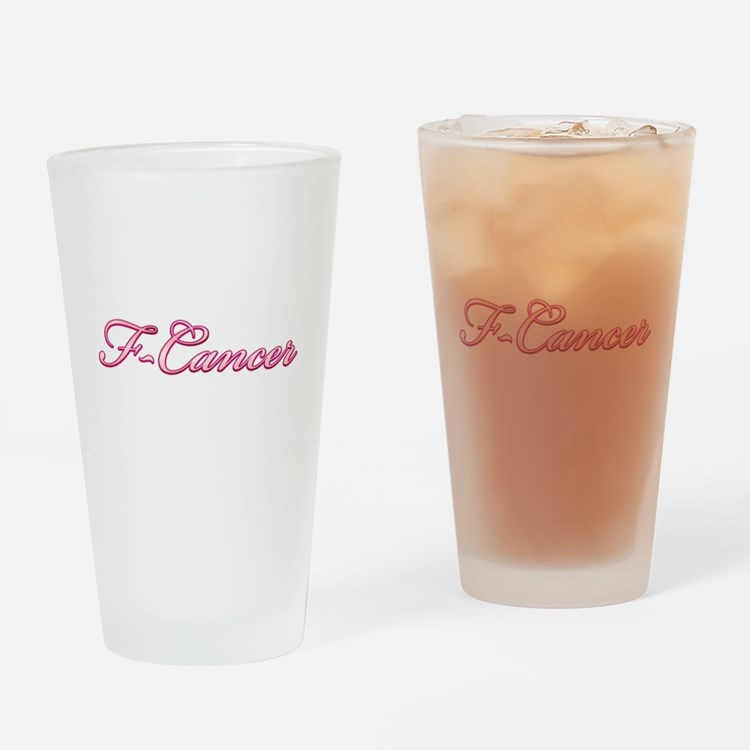 F-Cancer Drinking Glass