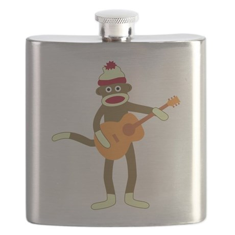 Sock Monkey Acoustic Guitar Flask