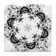 Renaissance Flower Tile Coaster