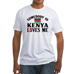 Somebody In Kenya Fitted T-Shirt