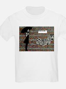 walking the zebra 2 T-Shirt
