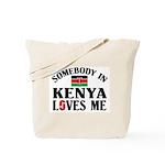 Somebody In Kenya Tote Bag