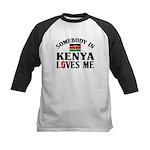 Somebody In Kenya Kids Baseball Jersey