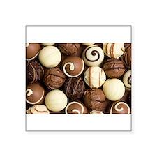 "chocolateholic Square Sticker 3"" x 3"""