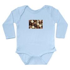 chocolateholic Long Sleeve Infant Bodysuit