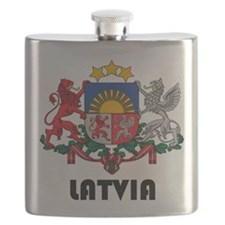Latvia Coat of Arms Flask