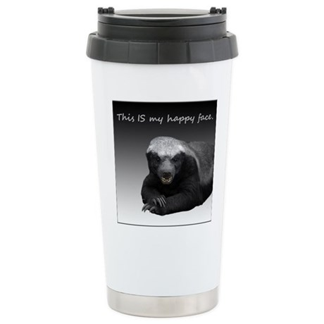 This is my happy face Stainless Steel Travel Mug