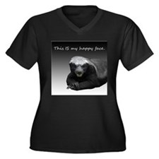 This is my happy face Women's Plus Size V-Neck Dar