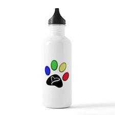 Paw Print Art Water Bottle