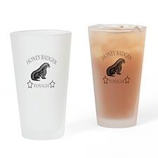 Honeybadger tough Drinking Glass
