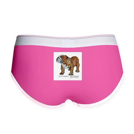 Bulldogs Life Motto Women's Boy Brief