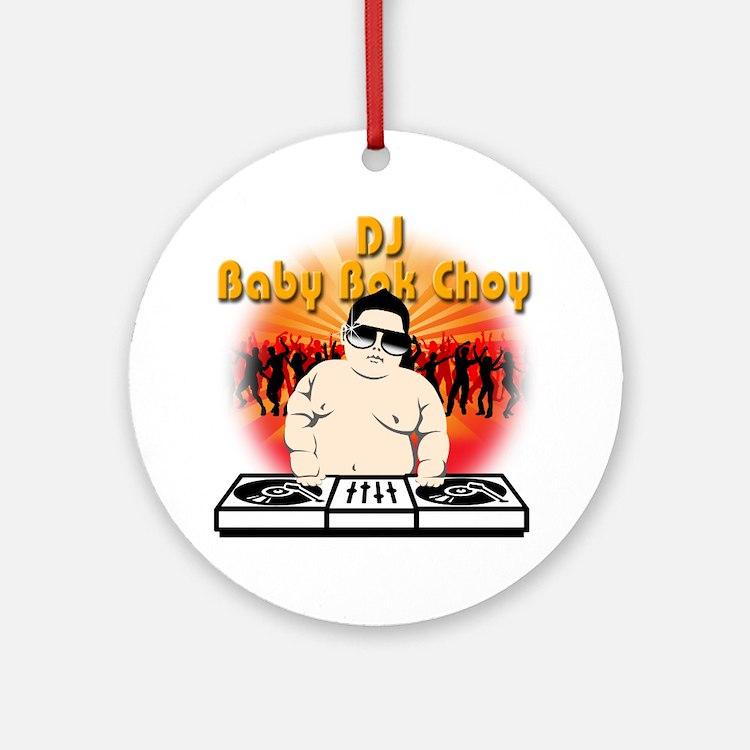 DJ Baby Bok Choy Ornament (Round)
