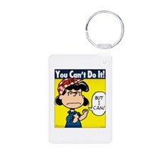 You Can't Do It Aluminum Photo Keychain