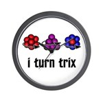 I Turn Trix Wall Clock