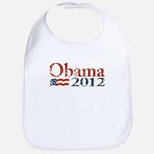 Obama 2012 Faded Bib