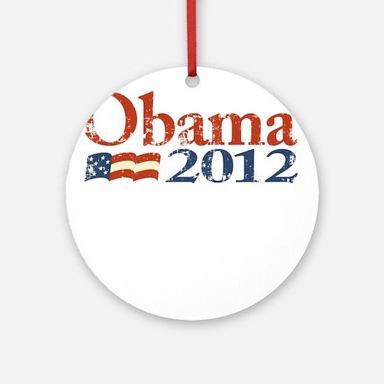 Obama 2012 Faded Ornament (Round)