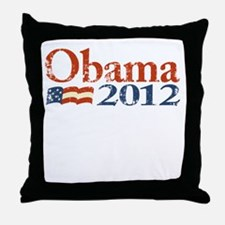 Obama 2012 Faded Throw Pillow