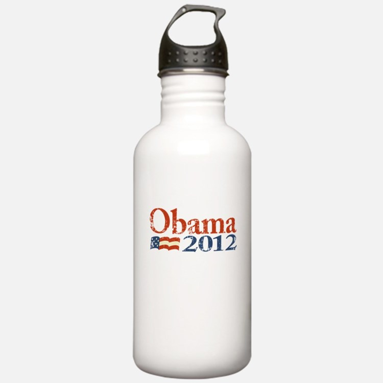Obama 2012 Faded Water Bottle