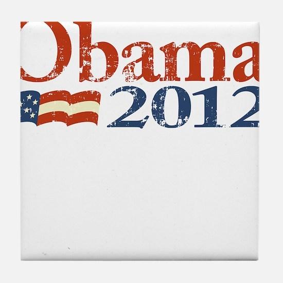 Obama 2012 Faded Tile Coaster