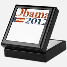Obama 2012 Faded Keepsake Box