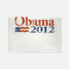 Obama 2012 Faded Rectangle Magnet