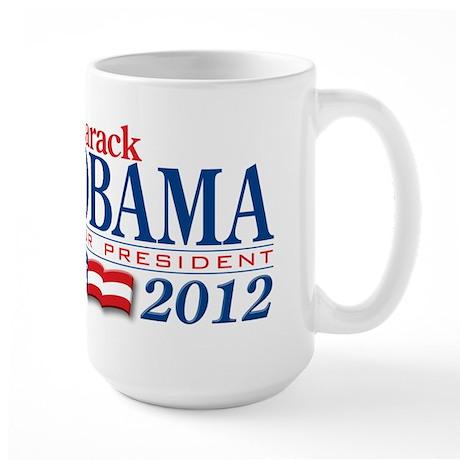 Barack Obama for President 2012 Large Mug