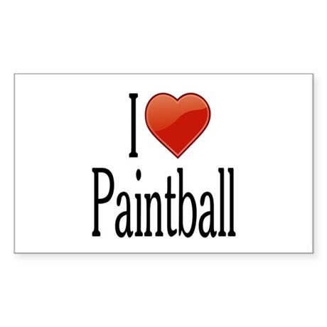 I Love Paintball Sticker (Rectangle 50 pk)