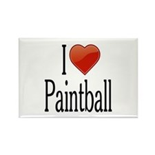I Love Paintball Rectangle Magnet
