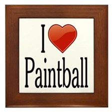 I Love Paintball Framed Tile